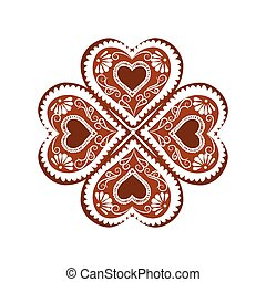 Heart shape Winter Sweets