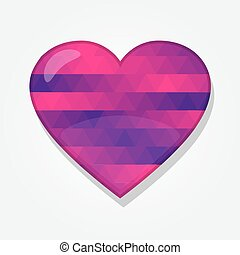 Heart shape with colorful triangles
