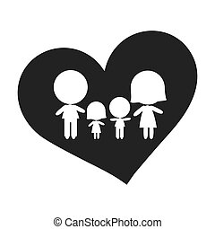 heart shape with family