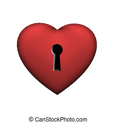 Heart shape with keyhole