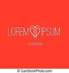Heart Shape with logo design