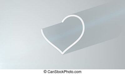 heart shape with long shadows last 10s loop