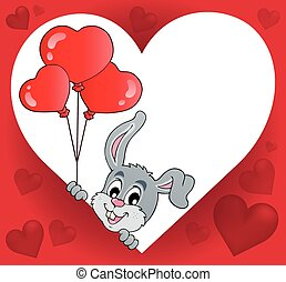 Heart shape with lurking bunny theme 2