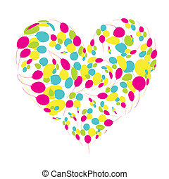 Heart shape with sunflowers for your design