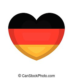 Heart shape with the flag of Germany