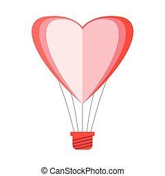 Heart shaped air balloon