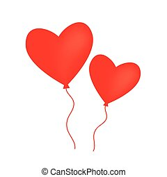 heart shaped balloon on white background