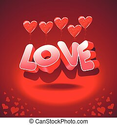 heart-shaped balloons and love