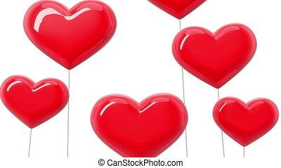 Heart-shaped balloons. I love You. Alpha mask. HD 1080.