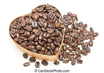 Heart Shaped Box with Coffee Beans