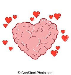 heart shaped brain icon