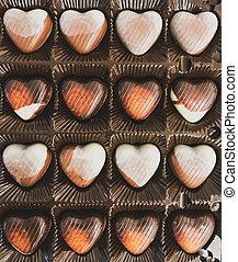 Heart Shaped Chocolates In A Festive Box