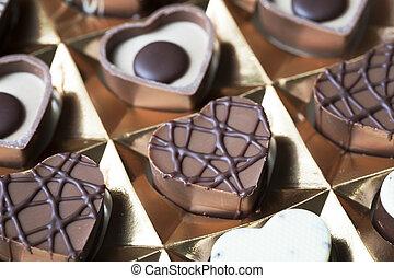 Heart Shaped Chocolates in Box