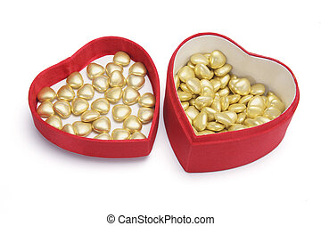 Heart-shaped Chocolates in Gift Box