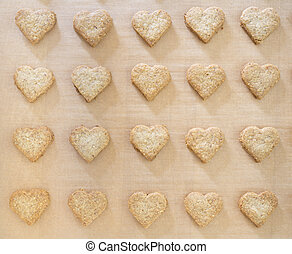 Heart-shaped Christmas cookies