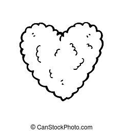 heart shaped cloud cartoon