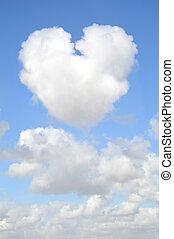 Heart Shaped Cloud - Blue Sky Clouds with Heart shape