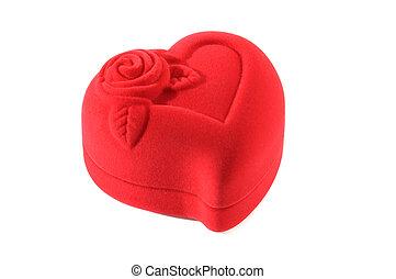 heart-shaped, fechado, jóias boxeiam