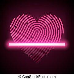 Heart shaped fingerprint scanner