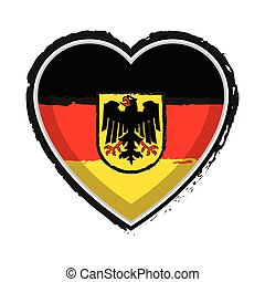 Heart shaped flag of Germany