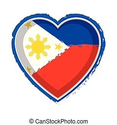 Heart shaped flag of Philippines