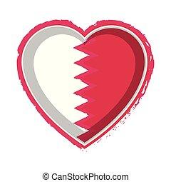 Heart shaped flag of Qatar