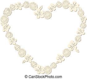 Heart Shaped Flower Frame