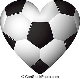 Heart shaped football - soccer - ball illustration.