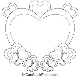 February coloring pages for kids.