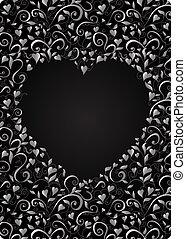 Heart-shaped frame