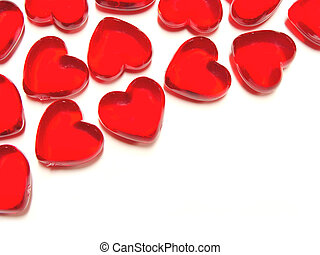 Heart-shaped gem background - Heart-shaped Valentines Day...