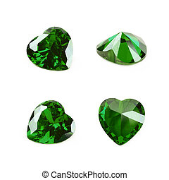 Heart shaped gem stone isolated