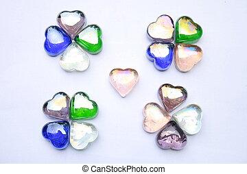 heart shaped gem stones