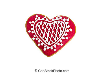 heart shaped Gingerbread cookie iso