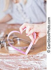 Heart shaped gingerbread cutter