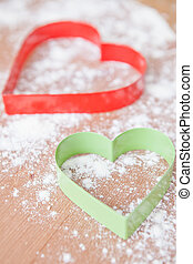Heart shaped gingerbread cutters