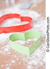 Heart shaped gingerbread cutters