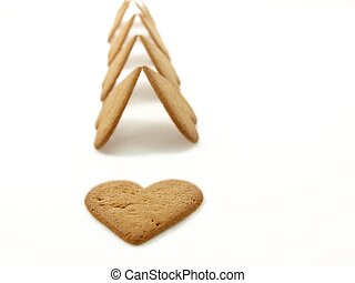 Heart shaped gingerbread