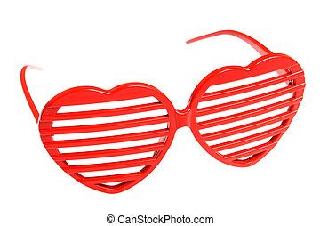 Heart shaped grill shades isolated on white