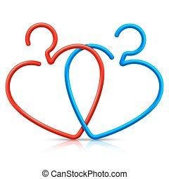 Heart Shaped Hangers