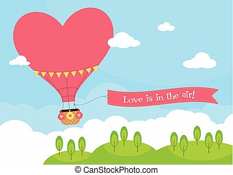 Heart Shaped Hot Air Balloon