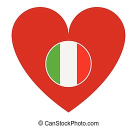 Heart shaped Italian flag