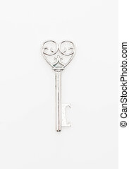 Heart Shaped Key Love Concept