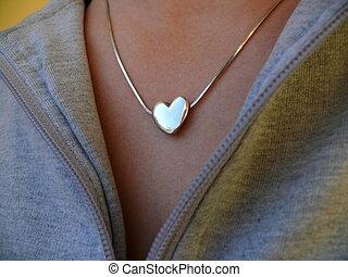 heart-shaped locket