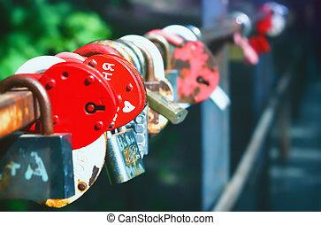 Heart-shaped Padlocks - Symbol Of Love