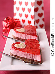 heart shaped pastry