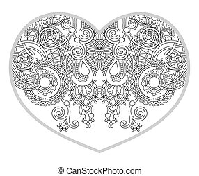 heart shaped pattern for adult and older children coloring...