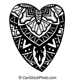 heart shaped pattern for adult and older children coloring ...