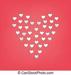 heart-shaped pattern