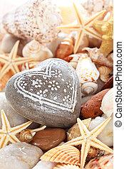 Heart shaped pebble.